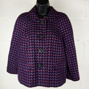 Briggs New York Blazer Women Size 12 Purple Wool
